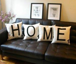 HOME scrabble inspired pillows