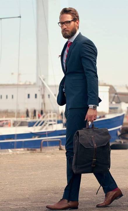 Blue suit brown shoes | Man stuff | Pinterest | Blue suits, Shoes