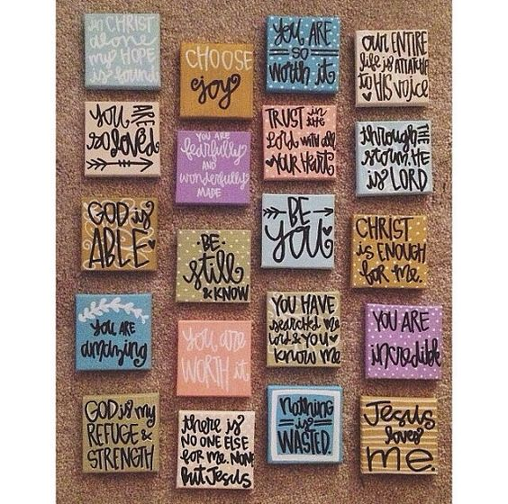 ONE mini canvas // choose any. by gloriouslyruined on Etsy, $7.00