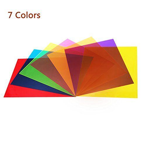 14 Pack Colored Overlays Transparency Color Film Plastic Sheets Correction Gel Light Filter Sheet 8 5 11 Inch 7 Assorted Colors Plastic Sheets Color Film Overlays