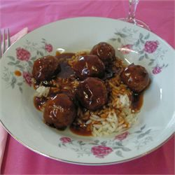 Actually, it should be called S&S Meatballs III I've done a slight tweek to the recipe by using extra lean ground chicken. I'm thinking it should have brought the fat content per serving down by half. The kids and gall bladder are happy. The Man could not be here, but I'd say it's still a win considering the kids finished them before the veggies and rice which Is a rare occurrance in this house.