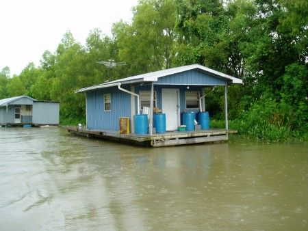 Barges for sale houseboats and louisiana on pinterest for Fishing camps for sale in louisiana