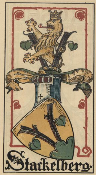 von Stackelberg -- Baltischer Wappen-Calendar 1902 (Baltic States Coats of Arms Calendar) published in Riga by E Bruhns with illustrations by M. Kortmann.