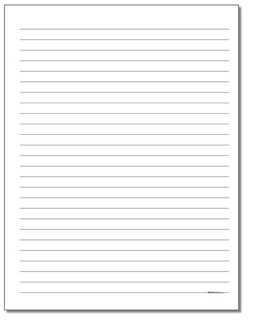 Printable Hand Writing Paper Templates In A Variety Of Line