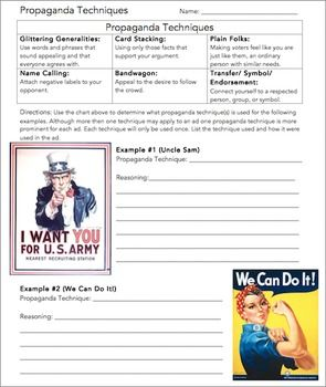 Worksheets Propaganda Techniques Worksheet Answers propaganda techniques worksheet lady the ojays and words wright ladies present this is a great review for the