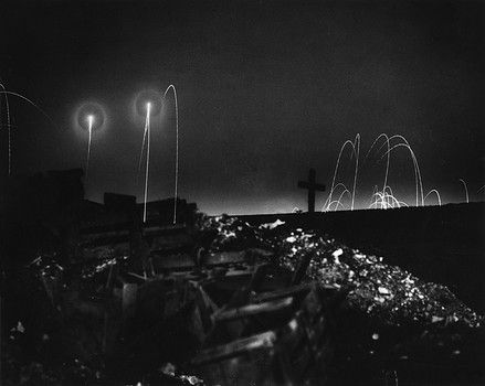 WW1, Battle of the Somme, 1916. The view from the British trenches of a…