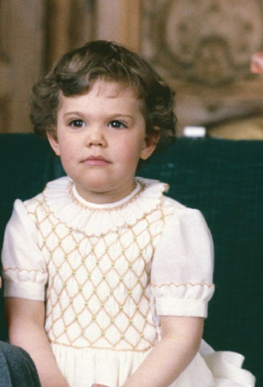 Crown Princess Victoria during the 1st birthday of her younger brother Prince Carl Philips,13 May, 1980