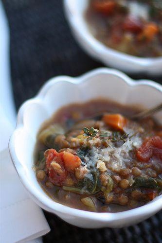 la pomme de portland. lentil and fire-roasted tomato soup.
