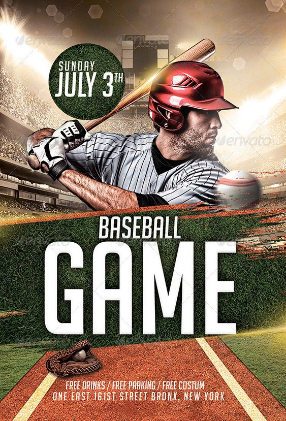 Baseball League Flyer Template - http://www.ffflyer.com/baseball ...