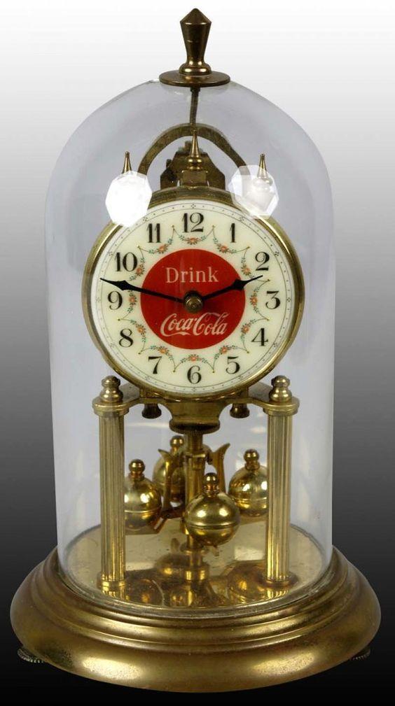 Coca Cola Clock In Glass Bottle