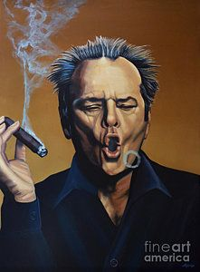 Painting - Jack Nicholson Painting by Paul Meijering