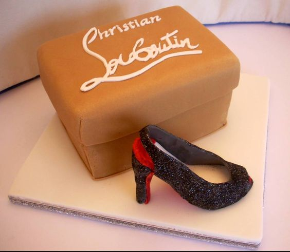 louboutin box and shoes