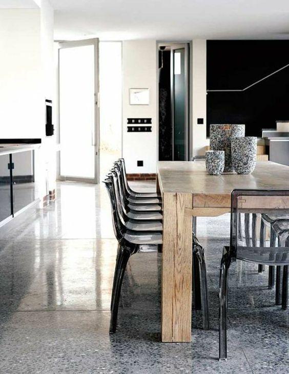 leroy merlin beton cir de couleur gris fonc dans la cuisine moderne - Leroy Merlin Cuisine Moderne Gris Fance