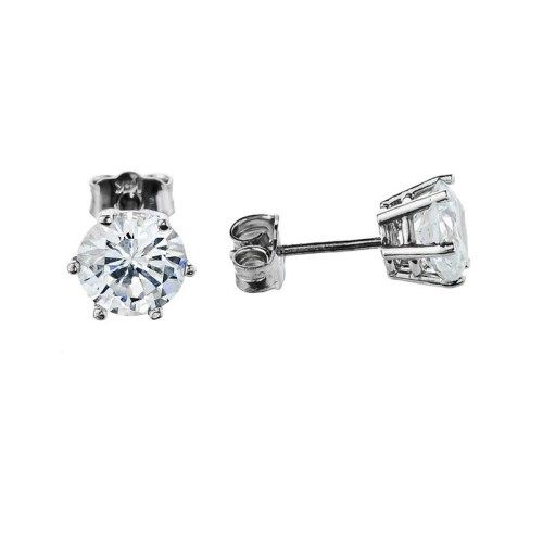 1//6ct,Excellent Quality 14k Yellow Gold Princess Diamond Simulated Cubic Zirconia SINGLE Stud Earrings 4-Prong
