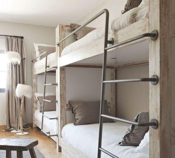 4 chambres d'enfants version dortoir pour maisons de vacances - Côté Maison