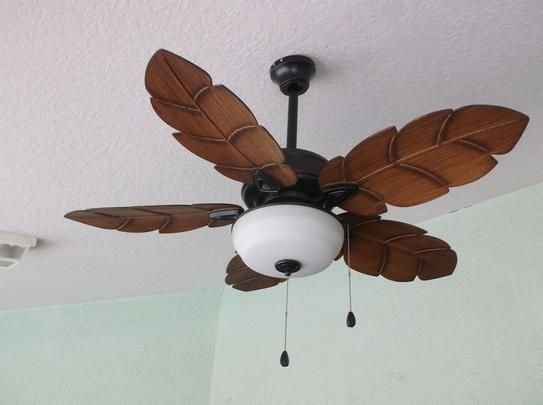 Home Decorators Collection Palm Cove 44 In Led Indoor Outdoor Natural Iron Ceiling Fan With Light Kit 51544 The Home Depot Ceiling Fan With Light Ceiling Fan Fan Light