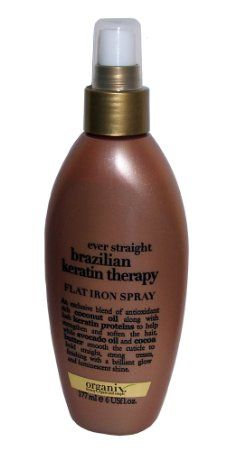 If you straighten your hair alot use this! It really helps keep your hair straight all day it's never plumps back out and it even smells good!