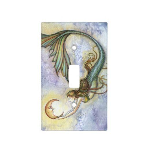 Mermaid and Moon Fantasy Art Light Switch Plates