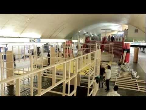 Le making of du montage de l'appart IKEA ! L'appartement de la station de métro parisienne Auber, installé pour présenter les solutions d'aménagements des petites surfaces que propose IKEA