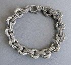 JUDITH RIPKA STERLING SILVER Chain Link Bracelet