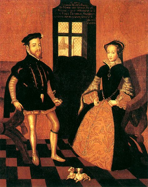 Mary and her husband Philip of Spain. Oil on canvas, English School, 17th century. Sadly for Mary, the marriage was a failure, no heirs were produced, the English disliked the idea of the Queen's foreign husband, and Philip being much younger, didn't seem particularly enamoured with Mary.