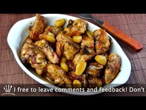 How To Make Spanish Easy Chicken Thighs in Garlic Wine Sauce Recipe