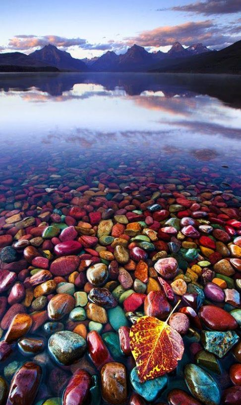 Pebble Shore Lake in Glacier National Park, Montana, United States , from Iryna