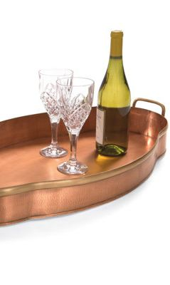 Scallop Copper Tray.