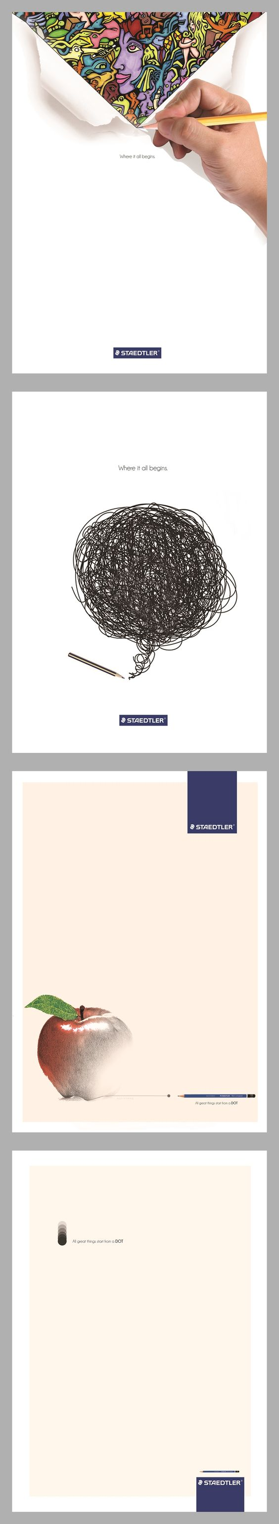 Conceptual poster designs of the #pencil brand #STAEDTLER.