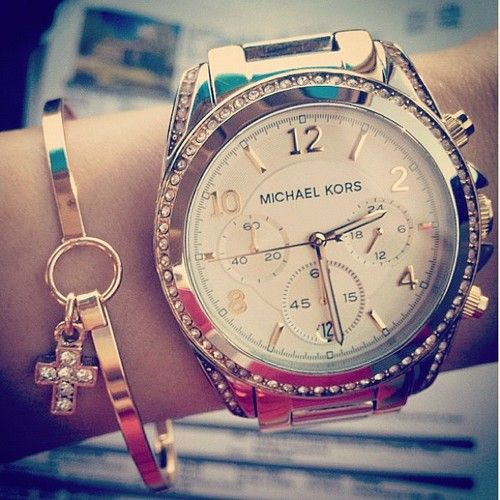 Bracelet and Watch: Bling Jewelry Accessories, Watches Michael Kors, Michael Kors Watches, Cheap Michael Kors, Mk Michael, Bling Bling