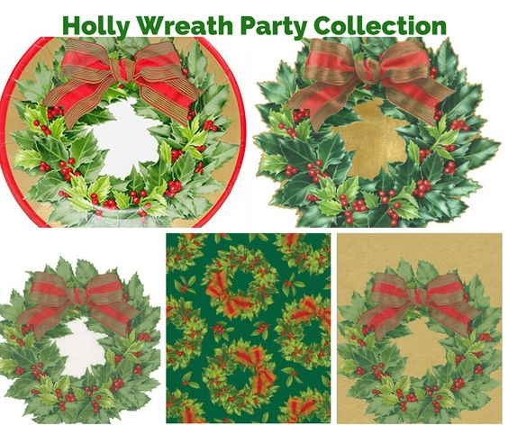 Holly Wreath Party Banner