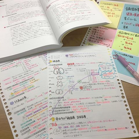 ガールズノートでミールログ書いてみた ノート システム手帳 手帳