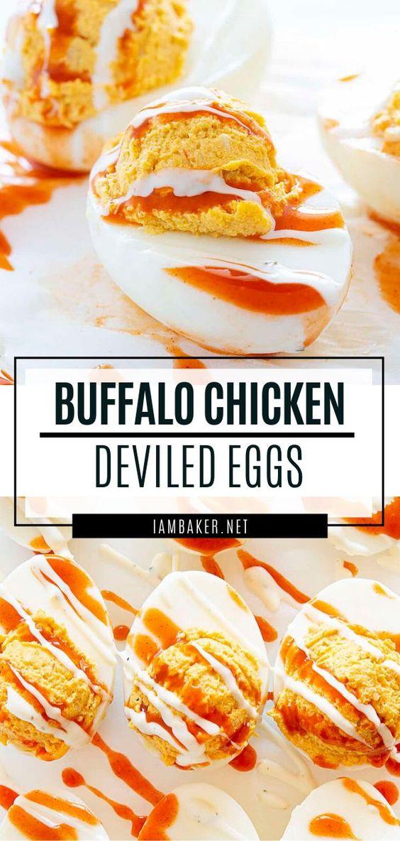Buffalo Chicken Deviled Eggs