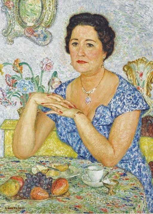 De_Smet_(Belgian artist, 1881-1966)Femme assise dans un intérieur
