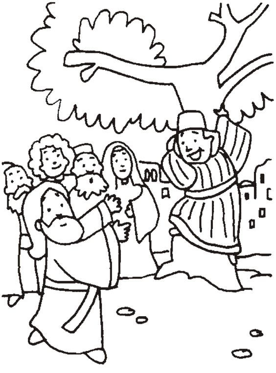 zaqueo coloring pages - photo #43