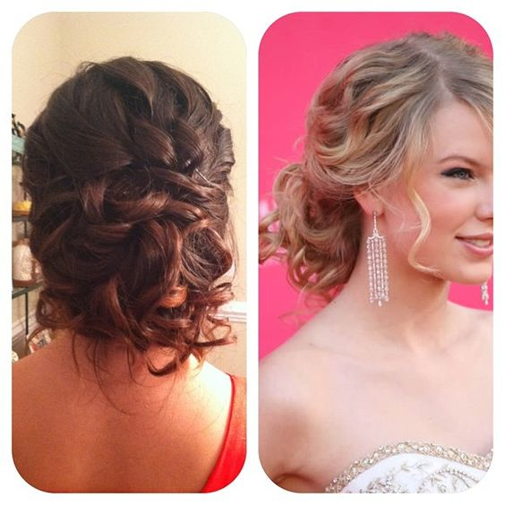 Prom Homecoming Updo Low Messy Bun Inspired By Taylor