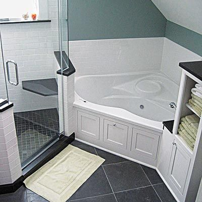5ftx5ft Corner Tub | Bathroom | Pinterest | Corner Tub, Tubs And Bath Tubs