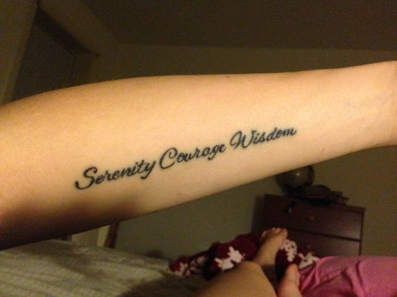 My Serenity Prayer tattoo - LOVE!