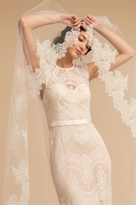 Breathless Chantilly Veil Ivory in Shoes & Accessories | BHLDN