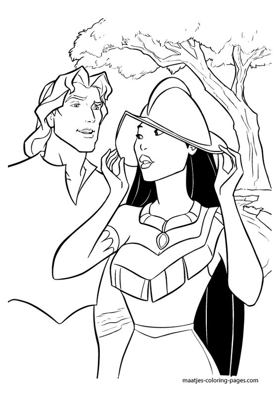 pocahontas disney coloring pages - photo#15