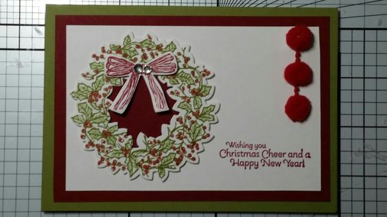 Peaceful wreath with greeting from Happy Hour