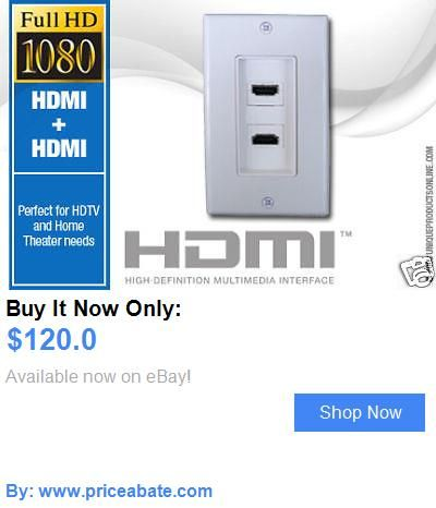 Home Audio: 10 Pk. Hdmi Dual Outlet Wall Plate - Wholesale Lot BUY IT NOW ONLY: $120.0 #priceabateHomeAudio OR #priceabate