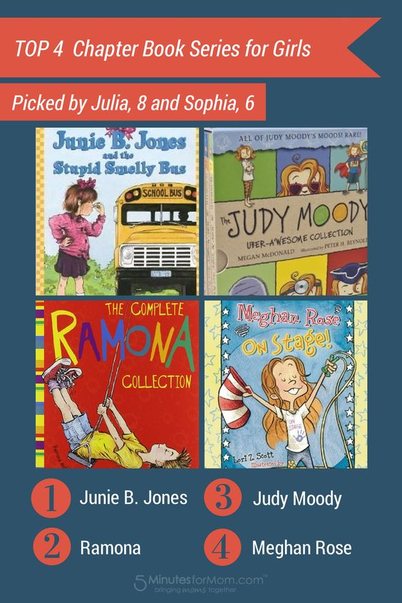 These are funny, easy to read books for girls. Perfect to read aloud with a child in  kindergarten or to read silently for ages 6 to 8.   Since they are series of chapter books, kids will keep reading one after the other. Great education!