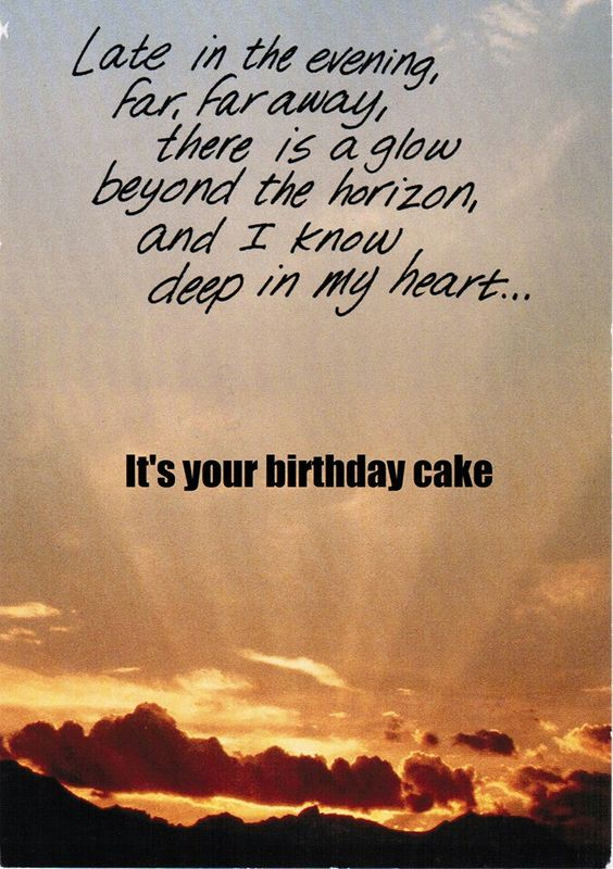 Birthday wishes! To funny: