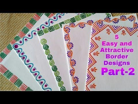 5 Easy And Attractive Border Designs For Greeting Cards Part 2