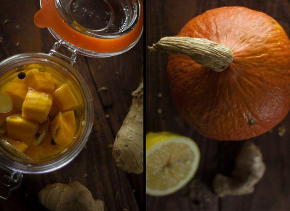 Eingekochter Ingwer Zitronen Kürbis - Rock the Taste