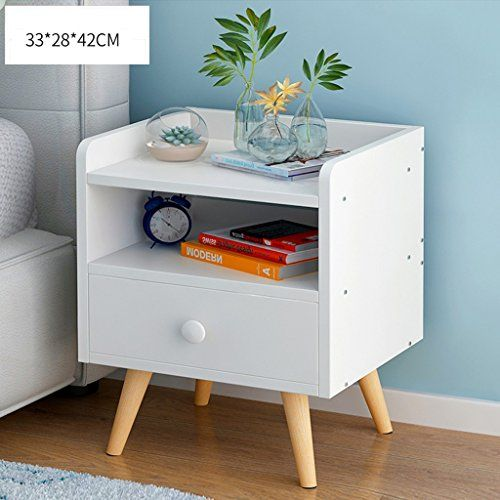 Gjm Shop Bedside Cabinet With Drawers Wood Feet Frame Bedroom Storage Cabinet Mode Bedroom Storage Cabinets Wooden Night Stands Bedrooms White Bedside Cabinets