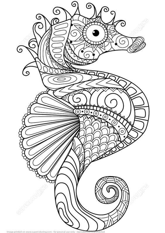 Seahorse Coloring Pages Free Mandala Kleurplaten Kleurboek Kleurplaten