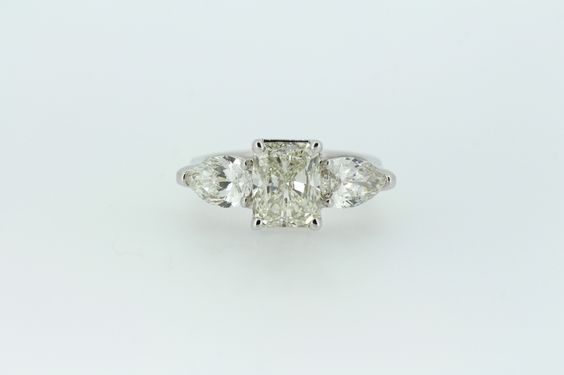 Radiant and Pear Cut Diamond Engagement Ring - Queen of Heirs