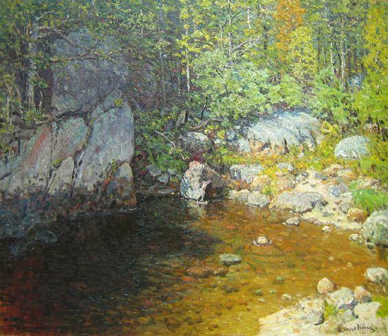 John Joseph Enneking - Woodland Pool I